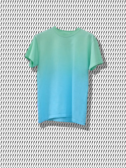 DOM SEBASTIAN — Green & Blue Gradient T Shirt