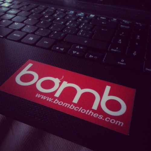 Have you gotten your hands on the new bomb stickers yet? #stickers #streetwear