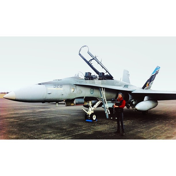 Filming some big fighter jets today!  #filmmaking #canada #stedicam #blast #fun #topgun