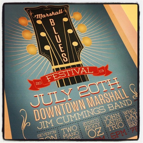 Poster concept I'm workinv for The Marshall Blues Festival