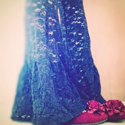#fashion #favorite #lace #like #love #lovely #pick #peace #happy #black #flower #me #today #espoir #今日の服 #足元くら部 #足元#レース  (エスポワール)