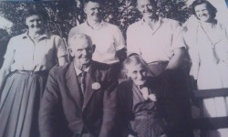 My Great Grandparents James Dyer & Eva Mackay, with 4 of their 6 children on their 50th Wedding Anniversary in 1963.L-R: Aunty Vera, Uncle Noel, Uncle Claude & Aunty Enid.
