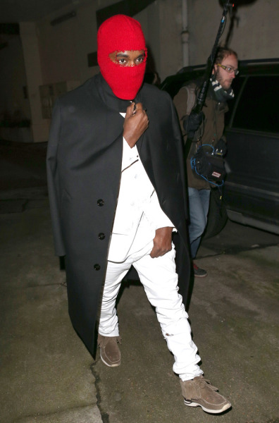 Kayne West being inconspicuous.