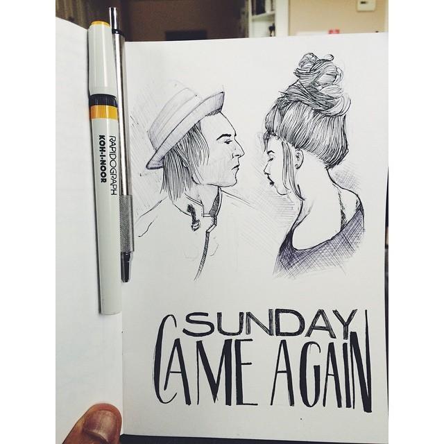 Sunday doodles. #doodle #draw #sketch #illustration #rapidograph #zebraf701 #vscocam