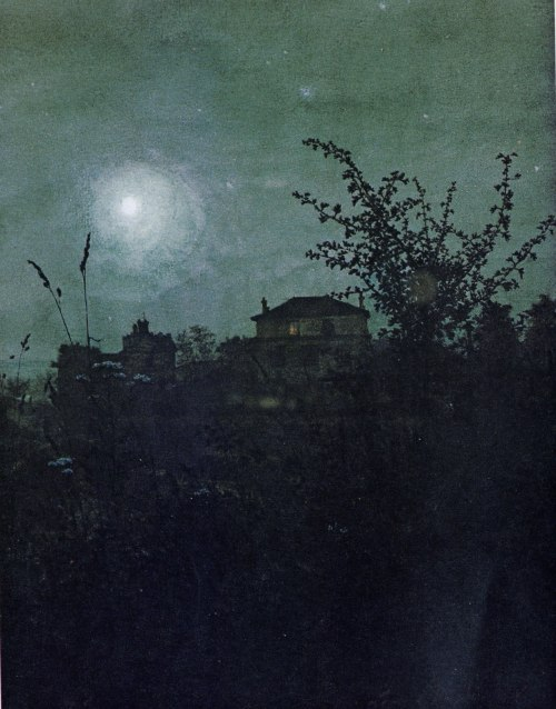 the-procession-moves-on:  Leon Bonvin (1834-1866) Moonlit Scene 1864