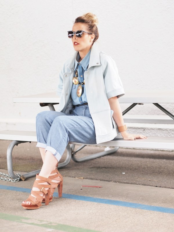 kendaatlarge:  b jones style: denim overload