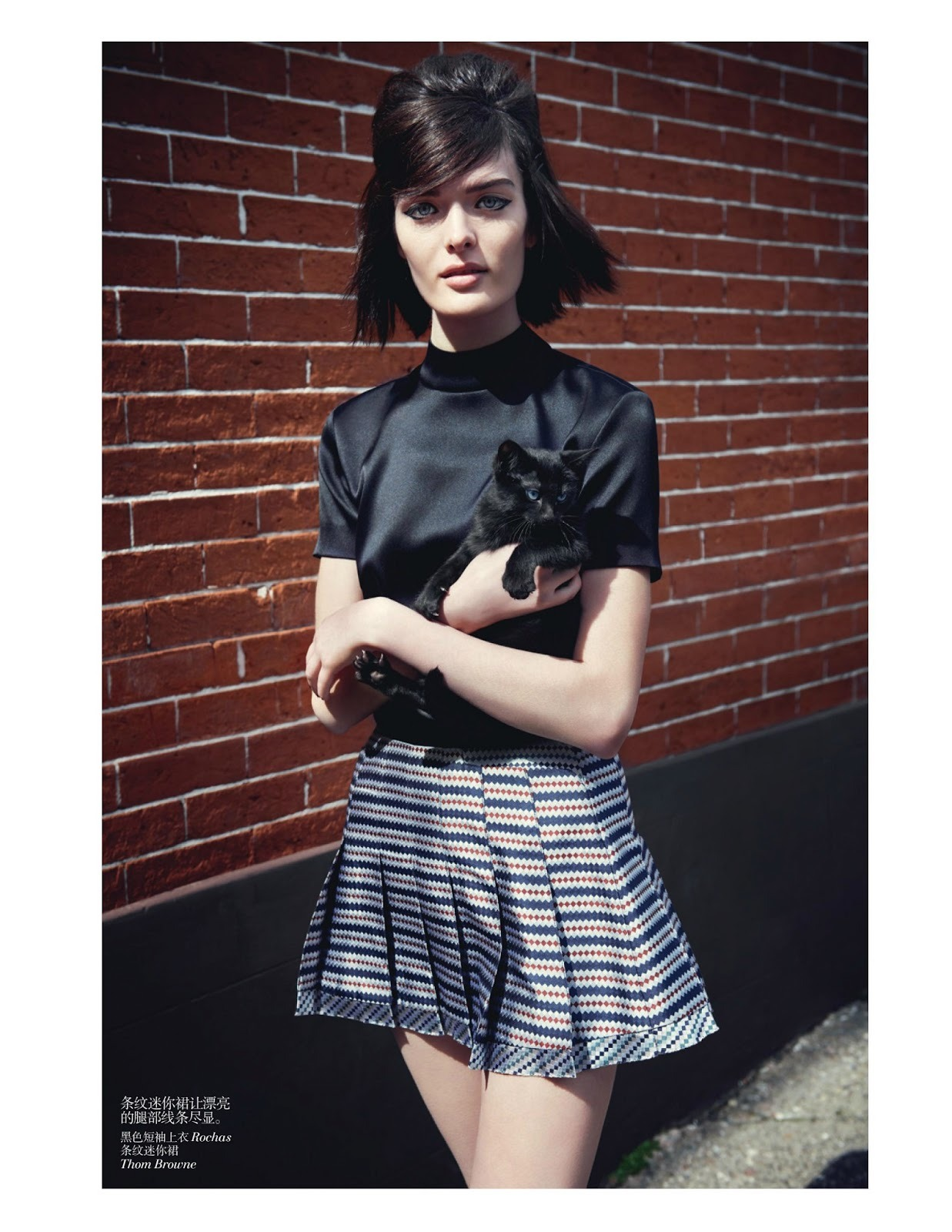 "Such a perfect, simple look! - Model: Sam Rollinson | Photographer: Max Vadukul | Stylist: Nicoletta Santoro | Hair: Esther Langham | Makeup: Lisa Houghton - ""Sam The English Bird"" For Vogue China, June 2013"