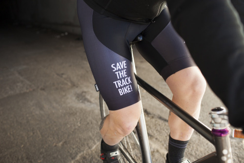TRACK-OH!x#STTB SPANDEX PRE-SALE   Preach your track bike love and sport the first ever Trackosaurus Rex kit — yes, there is a jersey too.  Don't miss out!  All orders placed before February 14, 2013 will go into production on the 15th and all orders placed after, will start on the first of March.  When this pre-sale is over, the kit design will be locked into the vault and will not be available again for many years.  Place your orders HERE.