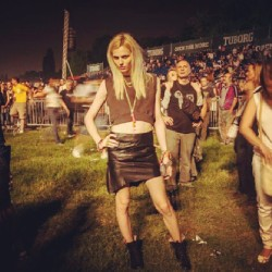 Andrej Pejic at Depeche Mode show in Belgrade. Source: tamaradrottning instagram