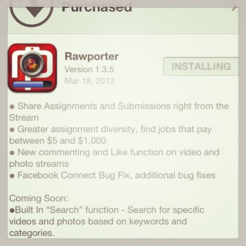 #update now available in #ios #iphone #ipad #market new #sharing features for #twitter @twitter and #facebook @facebook Do you run into #celebrities #athletes #actresses #musicians? Tired of seeing your photos in #feeds without any #photocredits or #money? Submit and share your #videos and #images in the #ios @rawporter #rawporter app! You'll be showcasing your photos and videos to #mediaoutlets that are buying user created #content. Get #paid using your #iphone #ipad #usa #citizenjournalism #mobilejobmarket #mobilecommerce #ecommerce (at Twitter NYC)