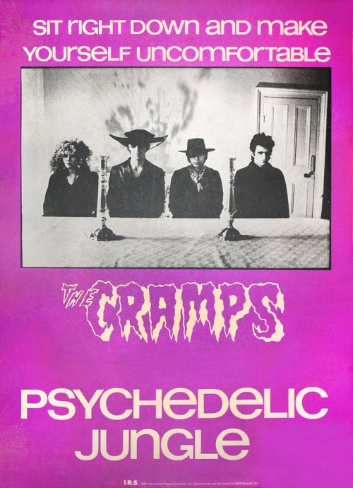 zombiesenelghetto:  The Cramps, Psychedelic Jungle promo poster, photo by David Arnoff, 1981