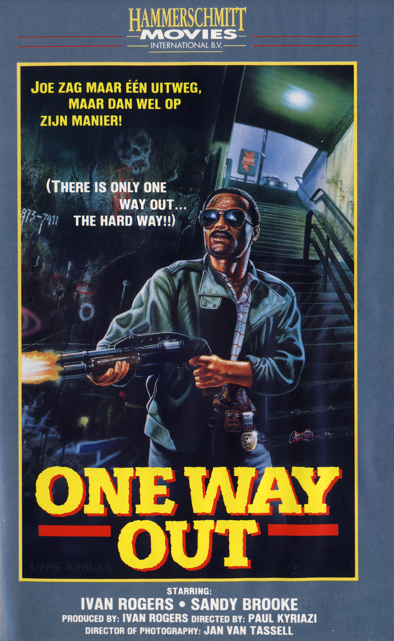 One Way Out (1986) #One Way Out #Crazed Cop#Paul Kyriazi#Ivan Rogers#Frankie Adonis #David Alan Anderson #VHS#1986