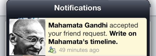 "jayathi:  diseasedweasel:  My life is now complete.  Um it's Mahatma. ""Mahamata"" translates to ""Great Mother"".  I guess people can't tell jokes on tumblr without others taking it seriously."