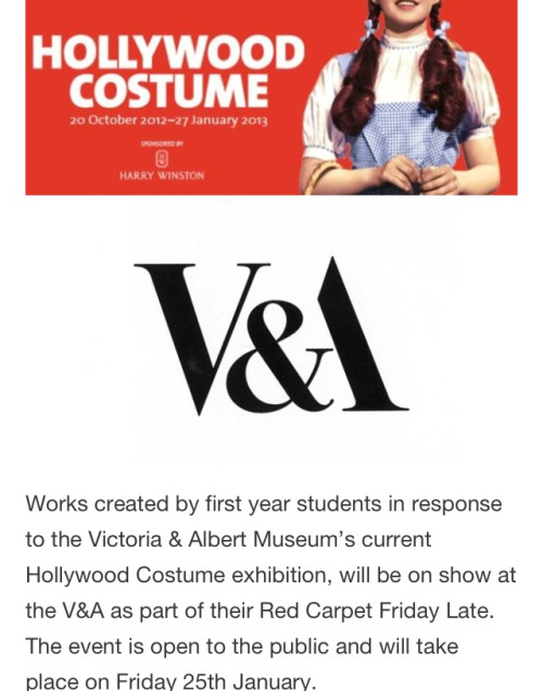 Tomorrow, my class will be exhibiting in the V&A!