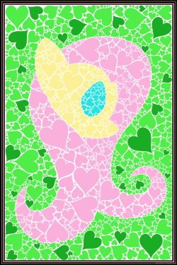 cocoa-bean-loves-fluttershy:  Minimal Mosaic: Fluttershy by flamevulture17