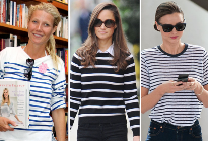 We Call it the Audrey Effect: Gwyneth Paltrow, Pippa Middleton, Miranda Kerr, and other celebrities who've taken cues from Audrey Hepburn's style.