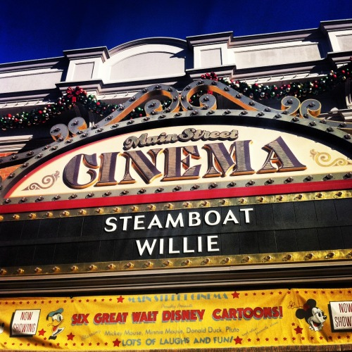 grets:  Steamboat Willie (1928) was the first Mickey's film to be distributed & I love it. I took this photo at Disneyland. Greta Alvarez