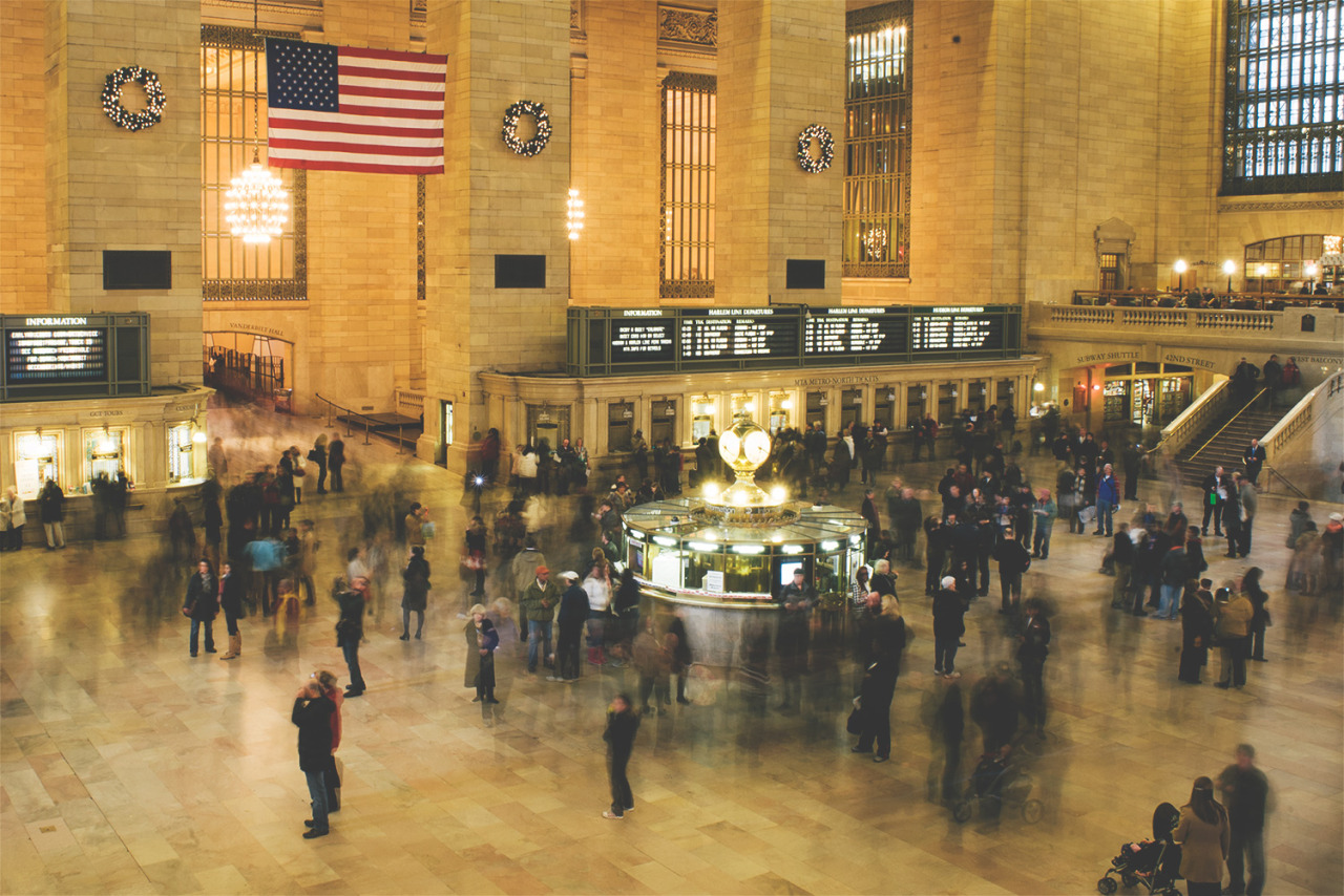 Grand Central Station is a great place to observe people moving like ants in an anthill.