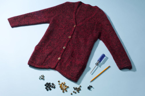 It's time to DIY! Spruce up your favorite cozy cardigan with some rocker-chic studs. Learn the simple and chic steps here »