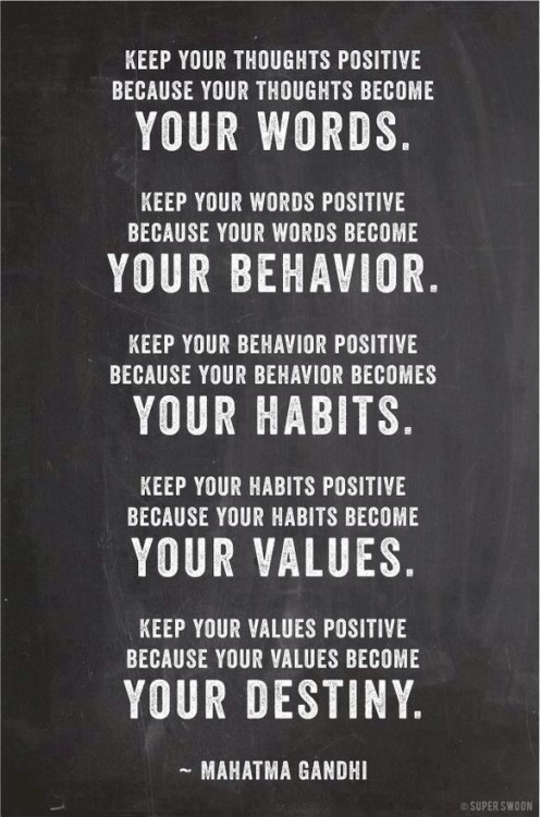fitbodyintegration:  It ALL starts with a positive attitude! You won't get far by thinking anything less than the best!