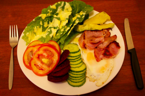 Bacon & egg salad, homemade mayonnaise