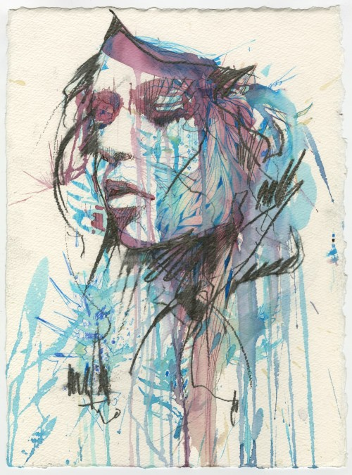carnegriffiths:  Contemplate - by Carne Griffiths