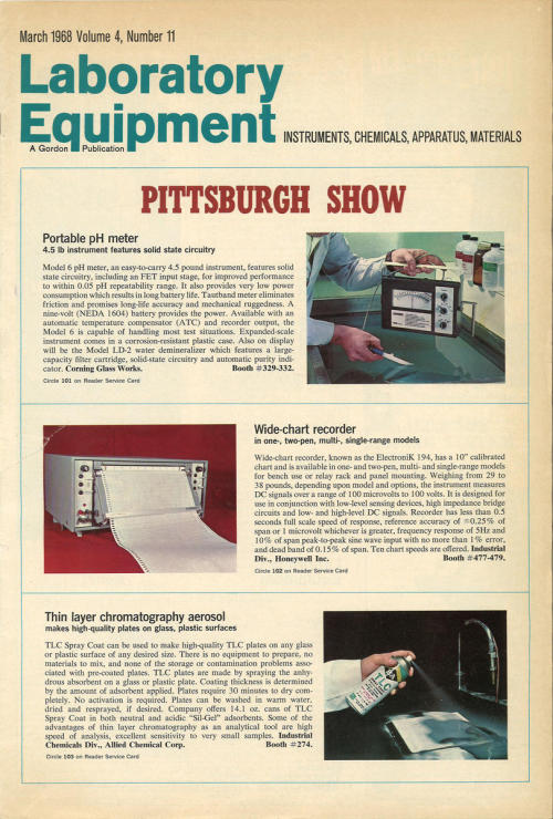 A Look Back: Early Pittcon CoverageWhile Pittcon is celebrating its 64th birthday and a return to its roots in the Northeast, Laboratory Equipment is celebrating its 50th birthday with a look back at previous coverage.Laboratory Equipment magazine was first published in May 1964 as a large tabloid publication. Since then, the magazine has evolved—just as laboratory equipment has—to meet the demands of a market and take advantage of a changing technological landscape. One thing that hasn't changed, though, is a commitment to showcasing new products and technologies, especially from one of the most important trade shows in the industry.Read more: http://www.laboratoryequipment.com/articles/2013/02/look-back-early-pittcon-coverage