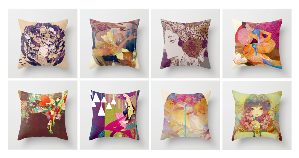 Pew pew pew pillows. Pillows everywhere!Reload your pillow-throw bazooka!Free shipping on Society6 today.Feel free to visit here~!http://society6.com/CyanParade/pillows ;D