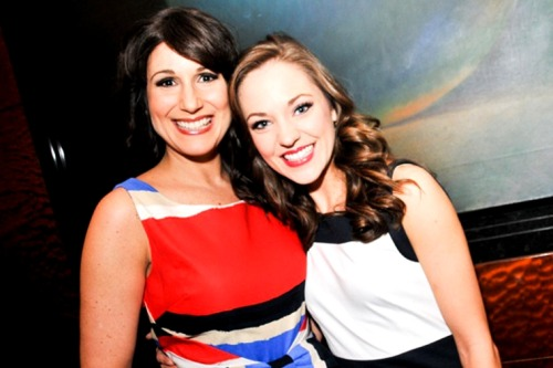 stephaniejblog:   Another Best Actress hopeful,Cinderella star Laura Osnes, strikes a pose with Stephanie J. Block. (x)
