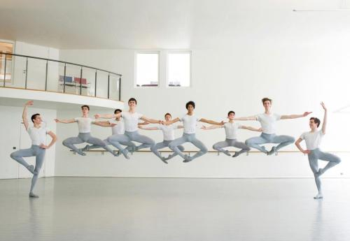 aurelie-dupont:  Paris Opera Ballet School boys Photo © David Elofer