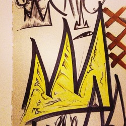 All that #Glitters is not #Gold #Basquiat #Crown of #Thorns #Ink on #moleskin