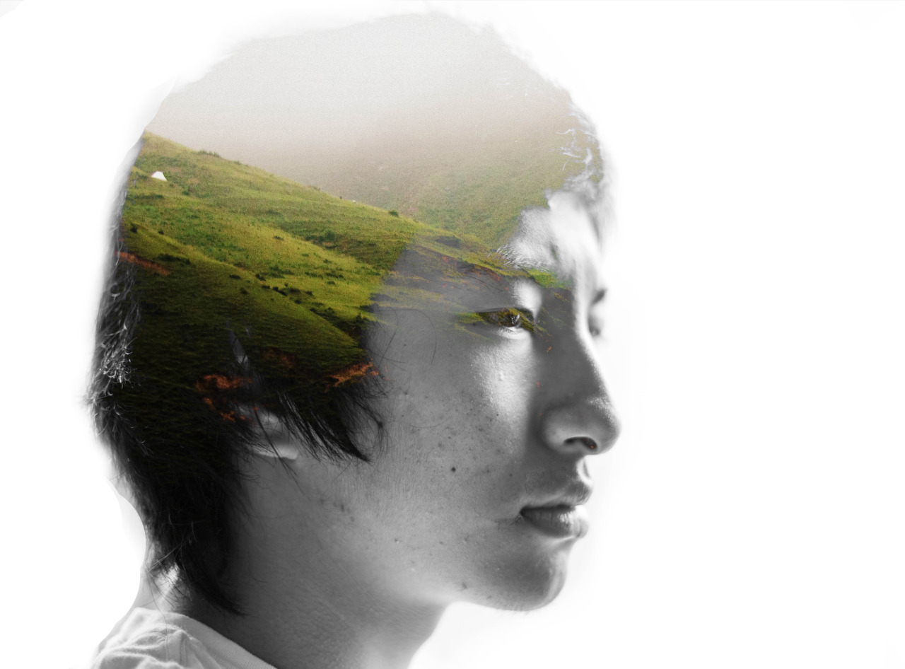 """Within"" - by Kalden D.  Some tries at double exposure self portraits. They were self portraits because  i do not have any models (though i didn't ask anyone…)"