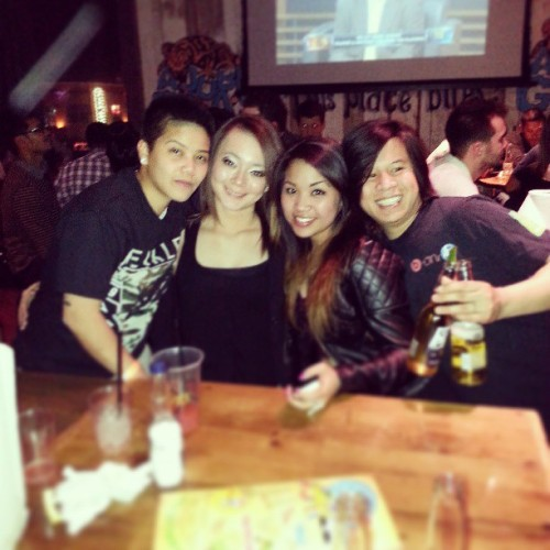 Last night :) #adobe #bar #goodnight #kinda #drinks #sillyfriends #confessions #drinkdrinkdrink @kimberlyalperto @robbytae @elayguerra