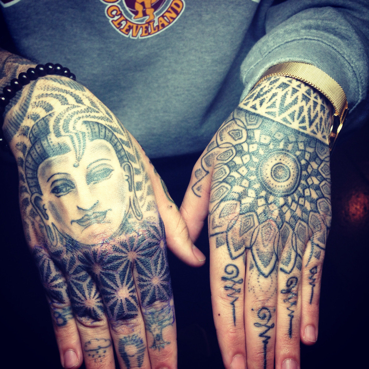 rickyleerichards:  Instagram: rickyleerichards finished up my hand dot-work