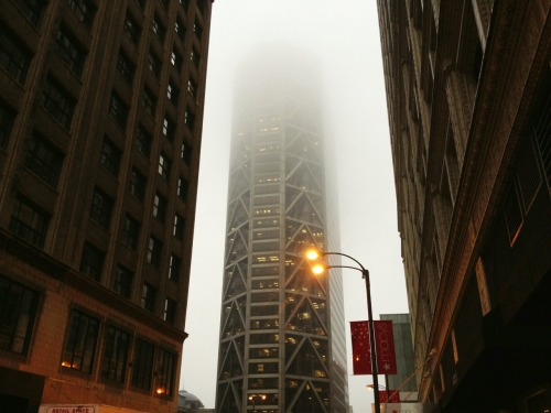 hungerbeyondhunger:  Downtown St. Louis on a foggy day
