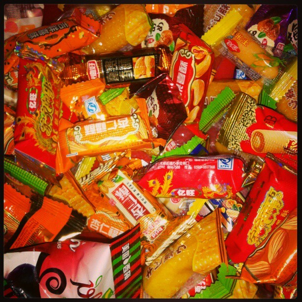 Candies are everywhere in this snake year! :D Gong xi gong xi~