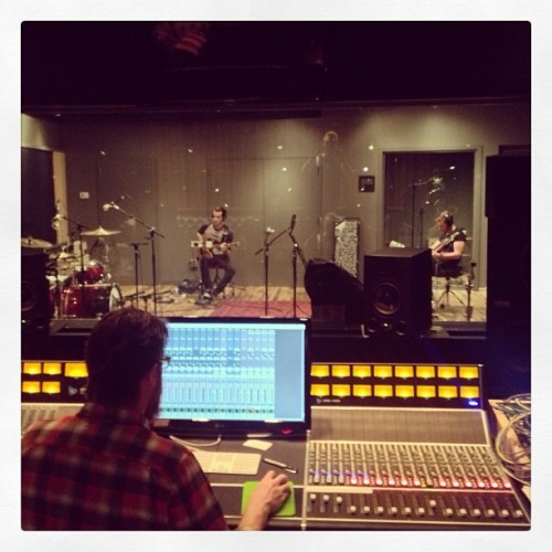 What a great day of tracking at Converse Rubber Tracks Studio in Williamsburg. This is the awesome Engineer Brian us situated earlier.