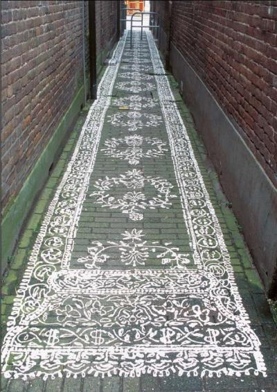 Loper (carpet), located in the Van Huursteeg, Apeldoorn, The Netherlands…