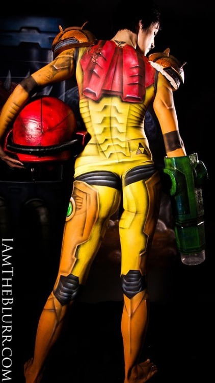 nerdybodypaint:  Samus Metroid body paint