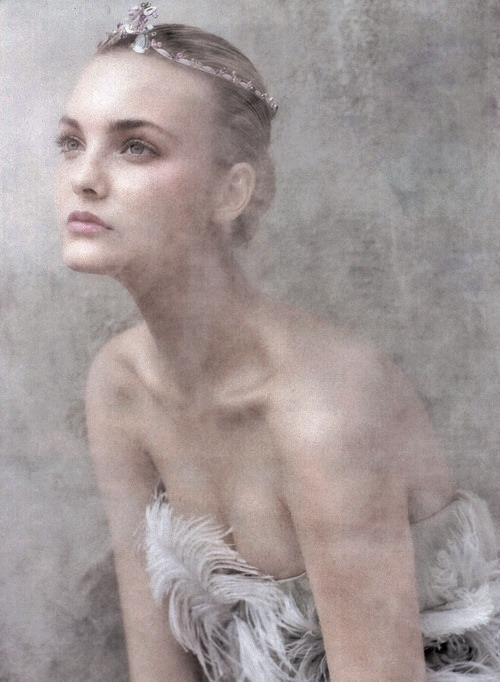 "pradafied:  ""Flight of the Fancy"", Caroline Trentini by Arthur Elgort for Vogue US September 2008"