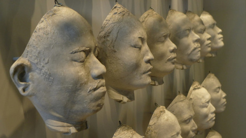 Facial casts of Nias islanders on Flickr.