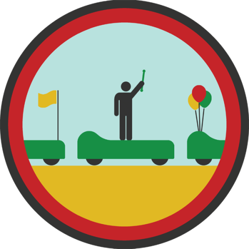 lifescouts:  Lifescouts: Parade Badge If you have this badge, reblog it and share your story! Look through the notes to read other people's stories. Click here to buy this badge physically (ships worldwide).Lifescouts is a badge-collecting community of people who share real-world experiences online.  i have bin in hundreds of parades tbh. cant remember my first one so Ill tell u the story of my favourite one: the Beijing Festive of Music (i think that is what it was called) my band (white spot pipe band woop woop!) was invited by the Chinese government to play at the Beijing Tourism Festival that encompassed 2 festivals: the music one and the Beijing light festival (i think :P). we paraded down an industrial street in Bejing which started at a park that over looked an old steal mill (that had chimney stacks that look a bit too much like nuclear ones for my liking) and ended at a stage that over looked the same place. this stage was in front of some water that was kinda glowing green, pretty sure i am now radio active.  It was truly amazing. we were rock stars in the eyes of the people watching us. they had huge smiles on there faces. ones that i have never seen here in North America. i did hurt myself though. rolled my ankle on some railroad tracks in the first 5 minutes and had to do the next 40 minutes in agonizing pain.  #1 badge!
