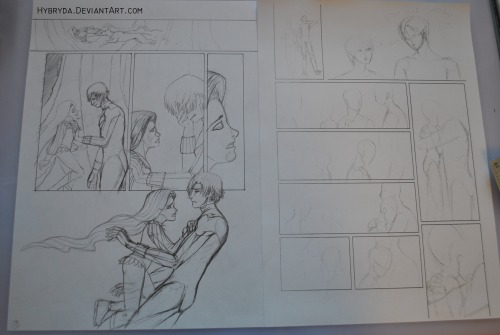 one page sketched down, one to go…  and there is a problem… what shoul Jay and Tim wear? civies? partial superhero gear? naked? ugh… so hard to decide ==  but I'm proud of myself D : I didn't hide any hand D : and I could hide like 5of them or so… hip hip! : D