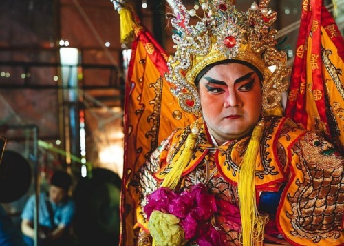 A performer with the Sai Yong Hong Thailand Teochew Opera Troupe...