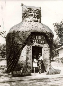 vintageeveryday:  Hoot Hoot Ice Cream, 1935 http://www.vintag.es/2013/05/hoot-hoot-ice-cream-1935.html