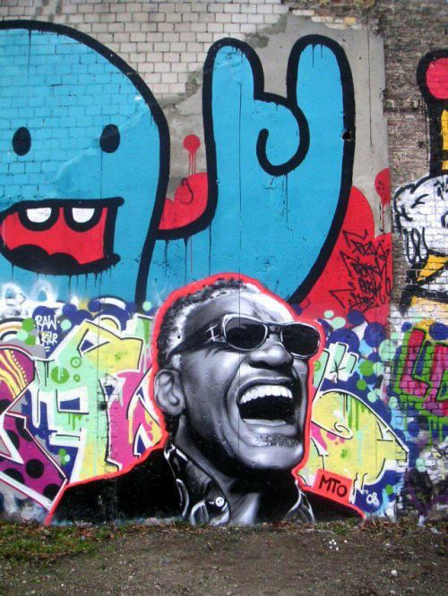 grafflicks:  RAY CHARLES GRAFFITI