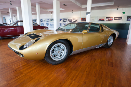 Lamborghini Miura S, one of 140 built between 1968 and 1971. Sant'Agata Bolognese, Italy.