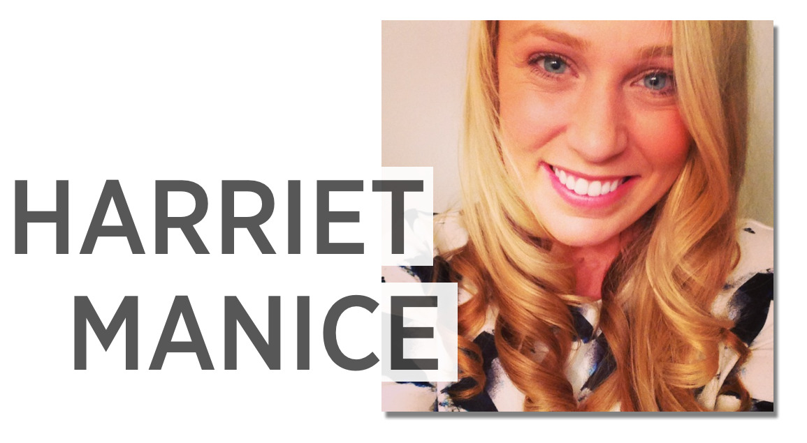 Harriet Manice. I'm a 23 year old, captivated by the world around me, surrounded by passion, talent, and art. I love singing and photography, both of which I believe my grandmother passed down to me. When I am not working on recordings, I am exploring the streets of New York City with my camera.  Check out Harriet's Facebook fan page