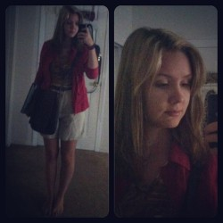 #ootd #look #outfit #follow #me #blond #followme #imfamous  #red #shorts #LV #bag #school #finalweek  #stressed  (at Its Way Past Carries bedtime)