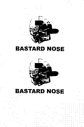 BASTARD NOSE, DESIGN FOR POSTCARD.
